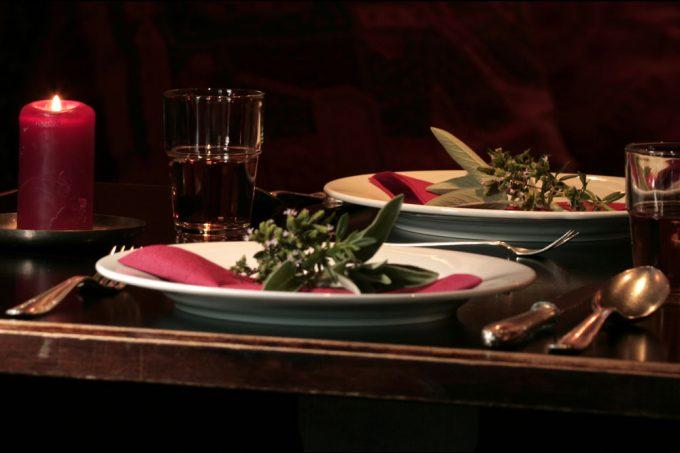 herzhafte Speisen in besonderer Umgebung